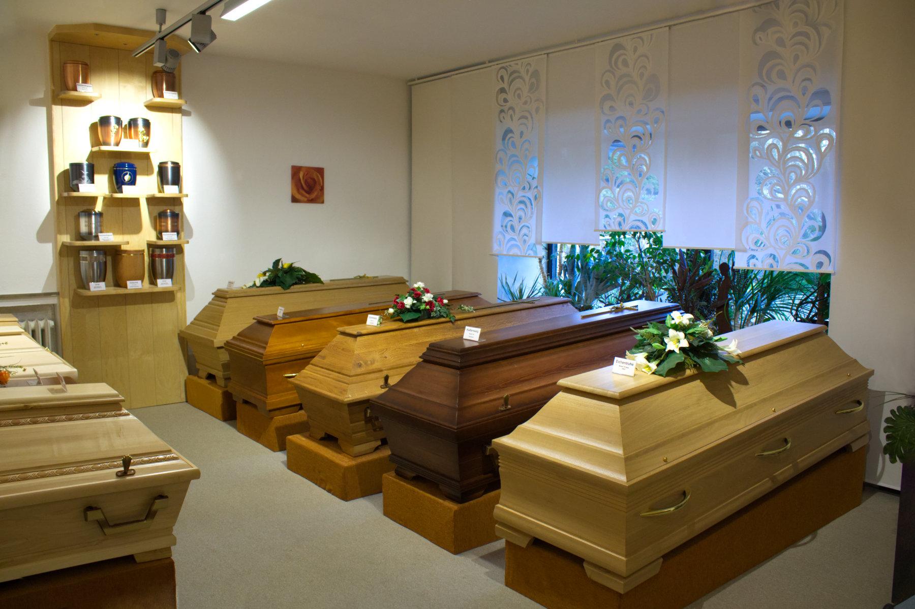Ausstellungsraum Bestattungsinstitut Schinner